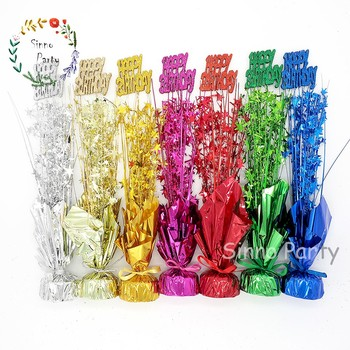 SINNO Happy Birthday Table Centerpieces Balloon Weight For Party Decorations