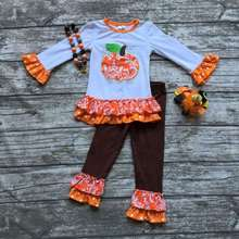 Autunno halloween <span class=keywords><strong>Boutique</strong></span> insiemi Delle Neonate <span class=keywords><strong>outfit</strong></span> All'ingrosso <span class=keywords><strong>Boutique</strong></span> <span class=keywords><strong>outfit</strong></span> red baby girl ruffle polka dot rifare outfits