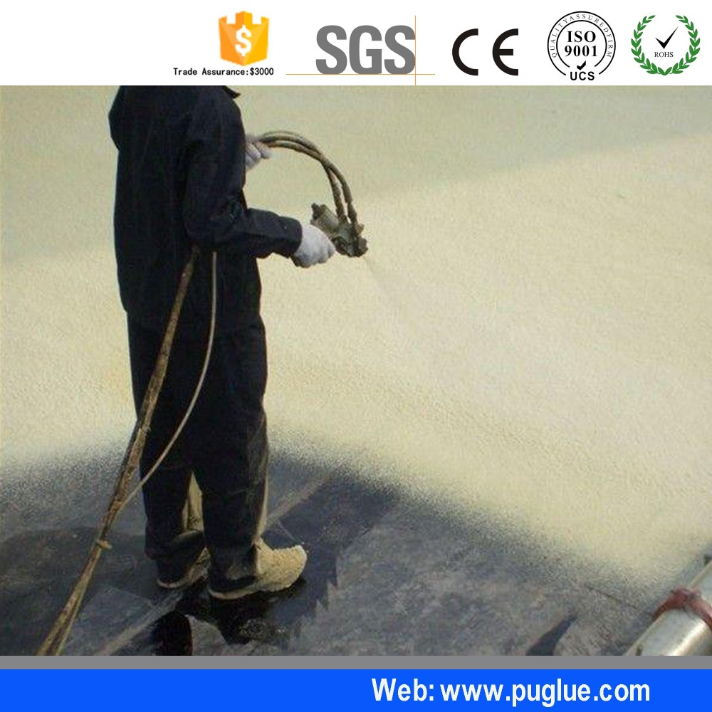China best fireproof spray foam pu polyurethane liquid waterproof spray foam