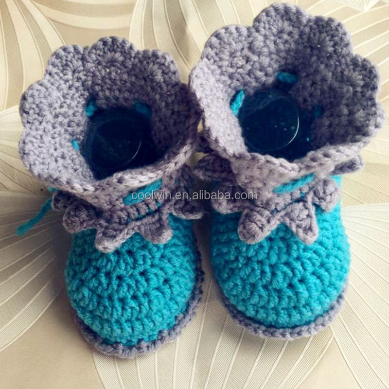 coolwin Hot Sale newborn baby shoes,kids shoes, girls or boy crochet booties,handmade shoes
