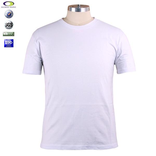 ec2b274c4bb98 Cheap Mens Plain White 95 Cotton 5 Spandex T Shirts Wholesale - Buy ...