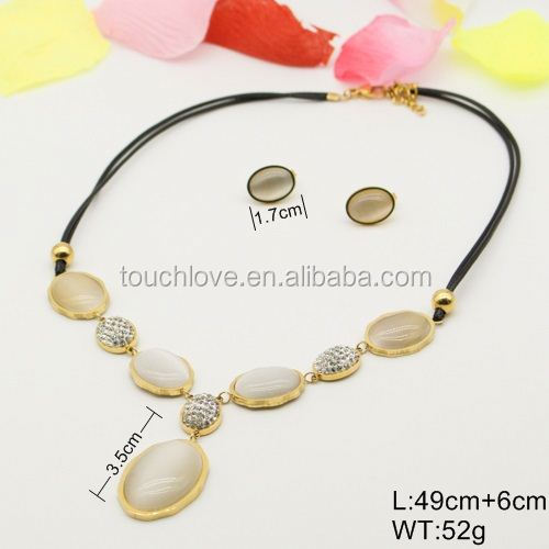 Fashionable Stainless Steel Jewelry,flamboyant big costume jewelry sets