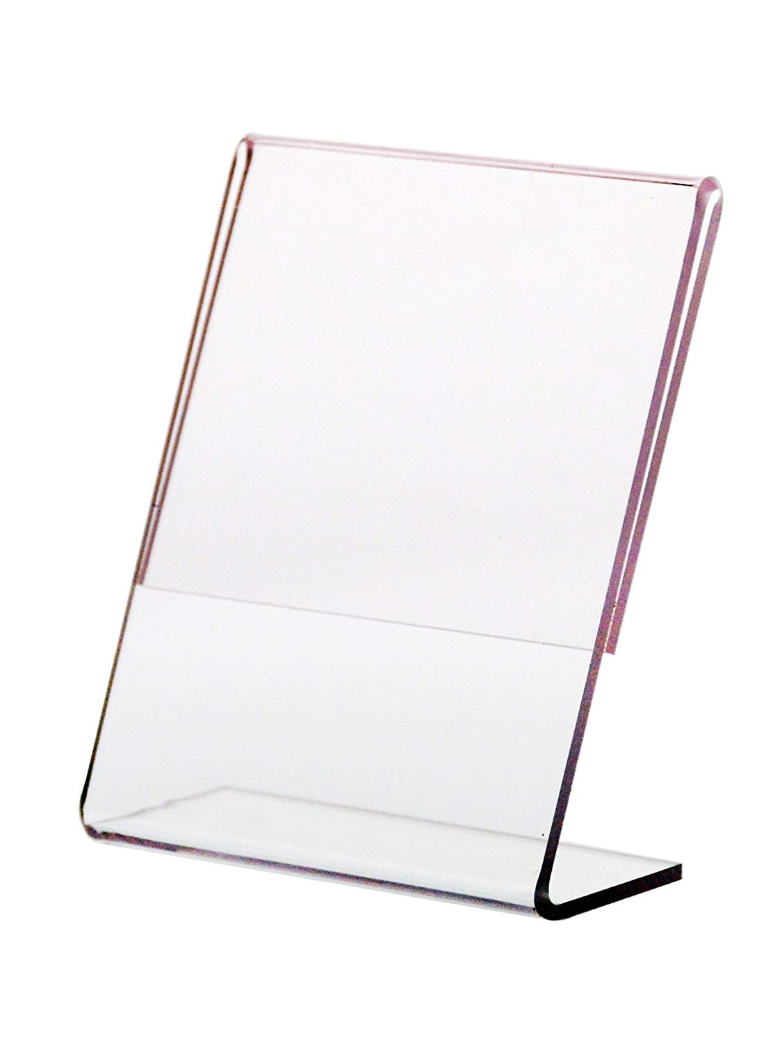 """Marketing Holders Lot of 6 Clear 2 1/4""""w x 3 1/4""""h Slant Back Table Tent Ad Frame Sign Holder"""