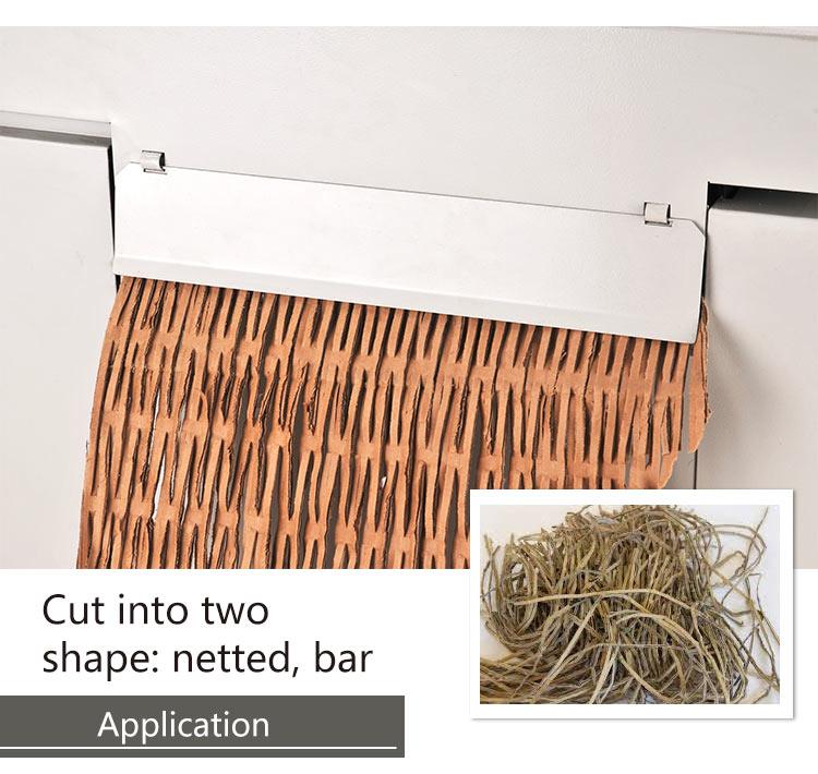 Waste recycle cross cut paper shredders cardboard cutting machine carton box shredder price