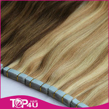 New coming reasonable price human tape hair extensions hair exension pu skin weft