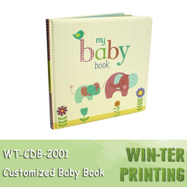WT-CDB-2001 hardcover book printing baby board books scrap books