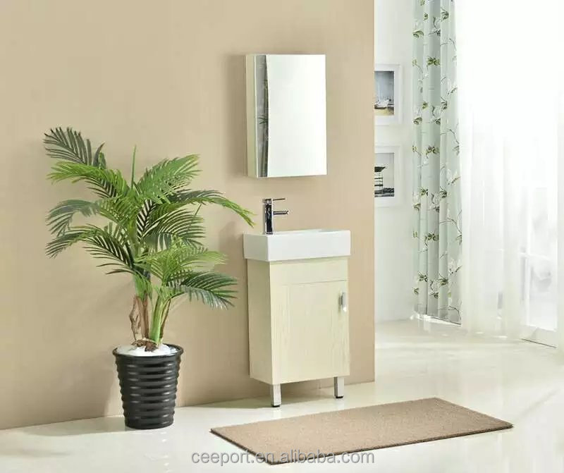 Manufacturer wholesale modern single sink bathroom vanity cabinet