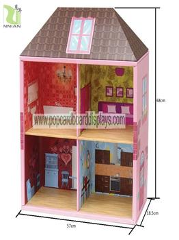 Cardboard Furniture Display For Kids Playhouse,Cardboard Kids Toys Display  Stand