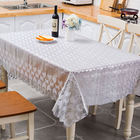 Factory Wholesale Great 137cm*20m Stamp Silver Easy Cleaning Lace Table Cloth For Wedding