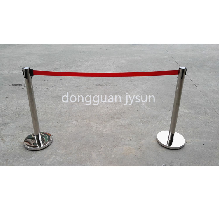 stainless steel barrier queue line retractable belt stanchions