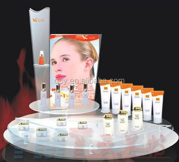 high quality powder puffs cosmetic accessories display stand