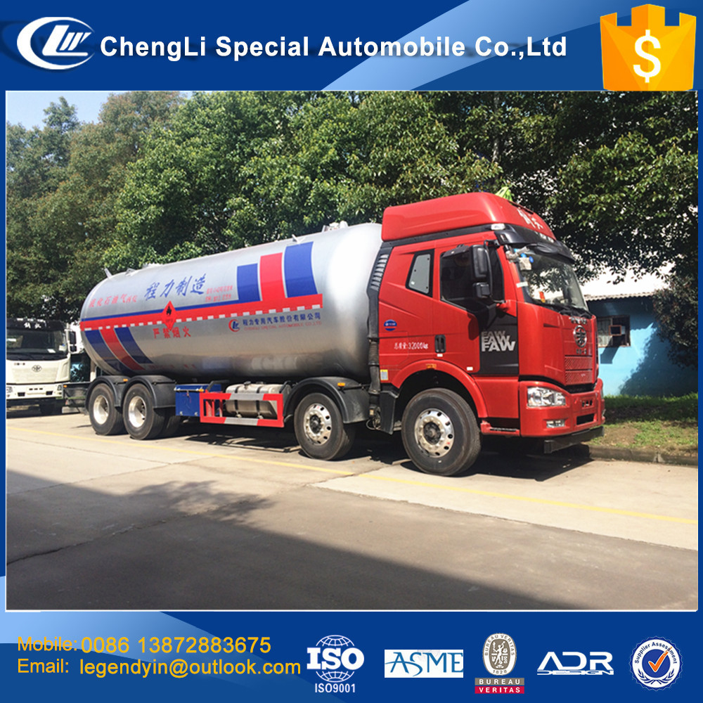 CLW heavy duty air suspension LPG tank truck 8x4 37cbm 15 tons load propane gas tank delivery truck with very low price