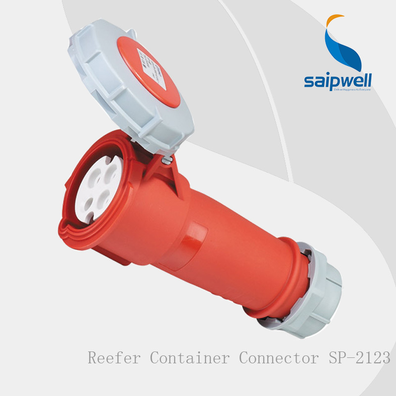 saip saipwell 2014 new Dedicated refrigerated container multi pin industrial connector IP67/32A/4P