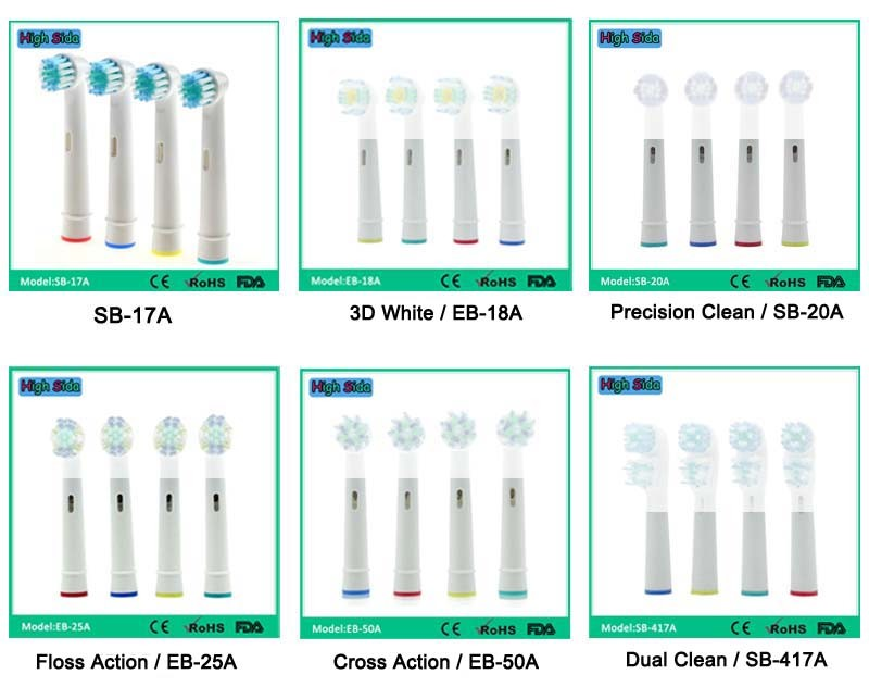 Replacement Electric Toothbrush Heads EB17-P For Oral B