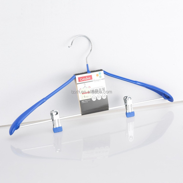 plastic coated wire Pants hanger with clips