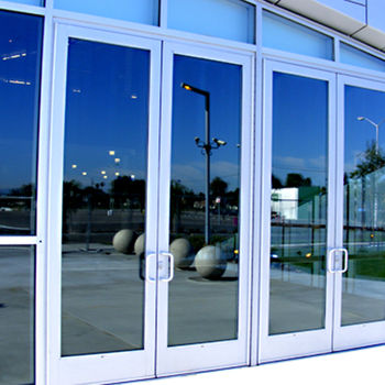 Exterior Commercial Glass Aluminum Frame Storefront Swing Door