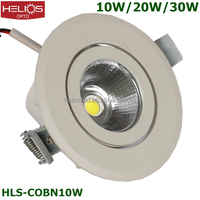high quality gimbal recessed 10w cob led downlight