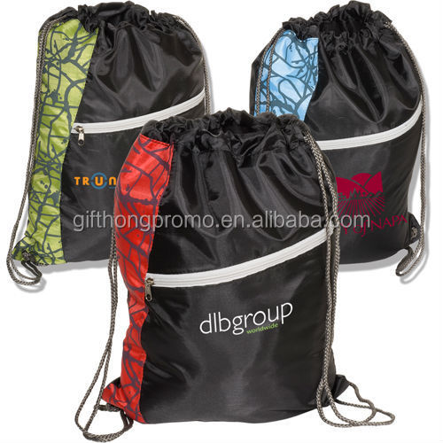 2018 Factory price sports reusable polyester drawstring bag