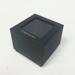 Chinese customised fancy paper window lid clear pvc gift boxes