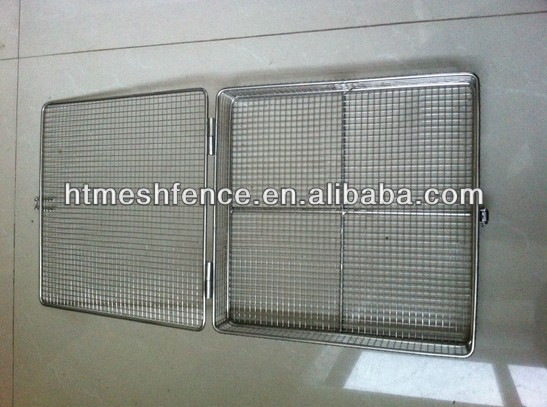Medical apparatus and instruments cleaning baskets /Durable medical cleaning autoclave box baskets