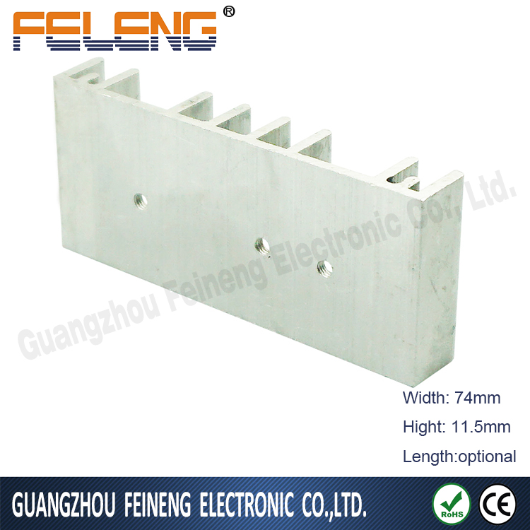 custom heatpipe heatsink , led strip aluminium extruded heat sink for cpu