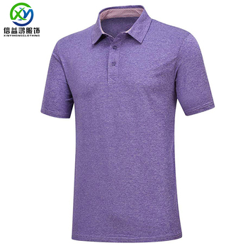 Heather purple summer super thin moisture wicking golf polo shirt oem