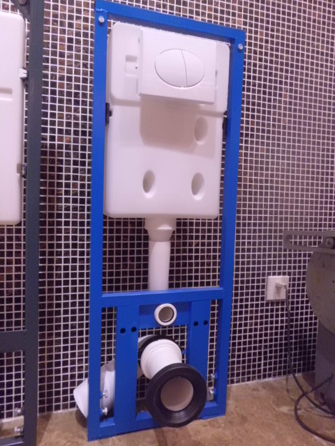 100dl Mounted Inside The Wall Toilet Water Tank Plastic