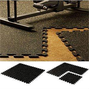 Home Gym Flooring Interlocking Rubber