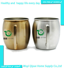 ideas BPA FREE 100% Pure Copper Moscow Mule Mug,450ML Solid pure Copper Moscow Mule &Beer