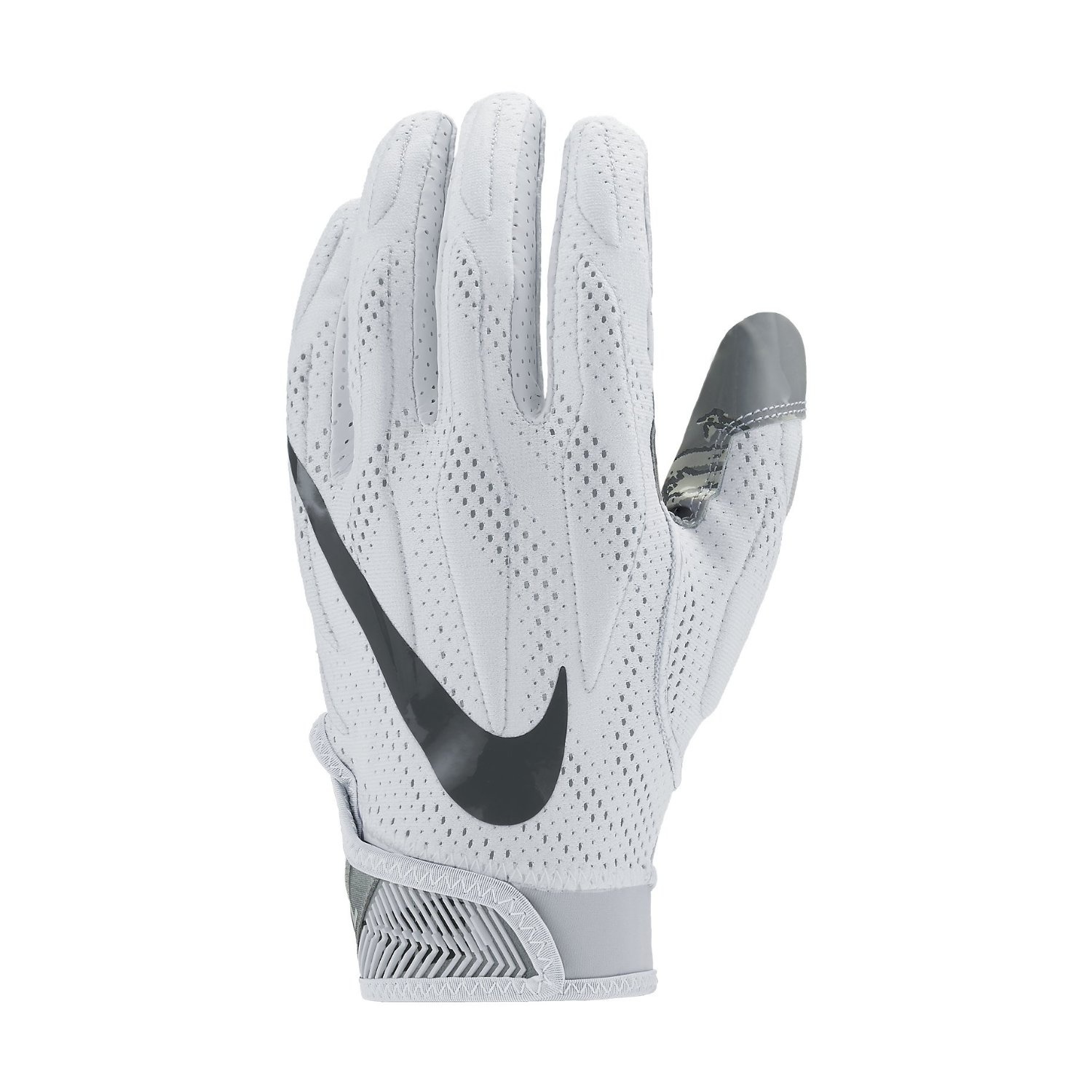 online store a1ef2 a5588 Get Quotations · Nike Men s Superbad 4 Football Gloves White Black Grey  GF0494 101 Size Large
