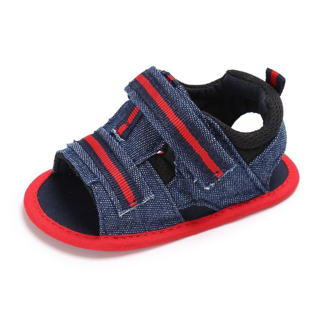 Hot Sale!Summer Sandals 2018,Todaies Newborn Infant Summer Soft Sole Sandals Baby Girls Boys Toddler Anti-slip Shoes Sandals (US:4, Red)