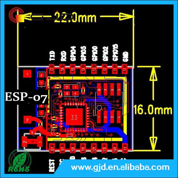 New Original Ic Wifi Development Board Esp-07 Pcb Antenna Esp8266 Module -  Buy Electronic Component,Esp8266 Wifi Module,Ic Chip Product on Alibaba com