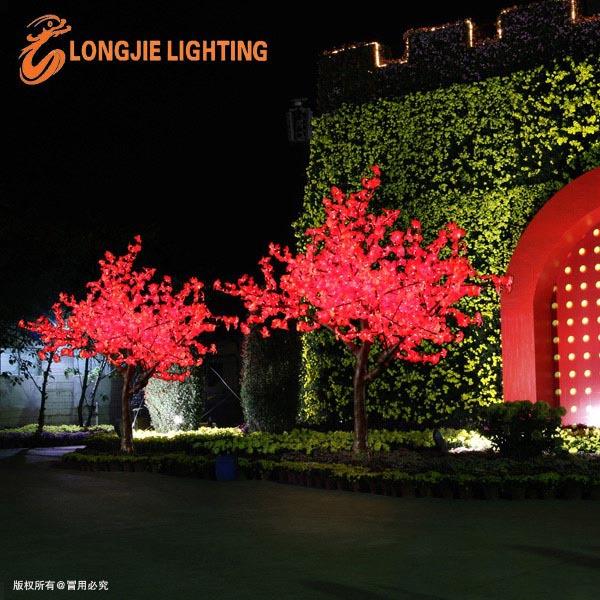 1056 led garden decoration mini led christmas tree red maple tree light
