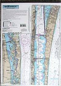 ICW: Palm Shores to West Palm Beach, FL - Laminated Nautical Navigation & Fishing Chart by Captain Segull's Nautical Sportfishing Charts | Chart # PW131