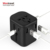 Newest design smart USB electrical plugs socket charger universal adaptor with Type-C 3 USB port travel adapter