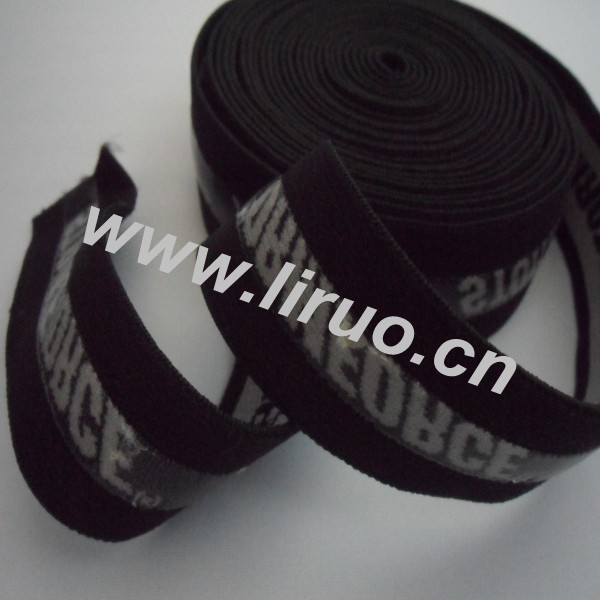 Silicone gripper elastic for underwear