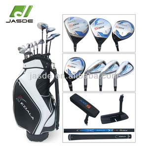 Custom new oem hight quality cheap left handed man easy hit silver popular golf club complete set
