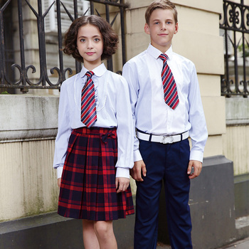 Cotton White Dress School Uniform Shirt for Boys And Girls