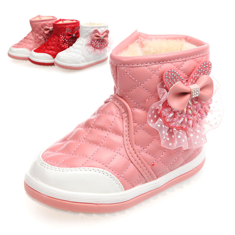 74bd833be18fa Get Quotations · 2015winter style girls snow boots for children girl s boots  for girls baby princess shoes warm boots