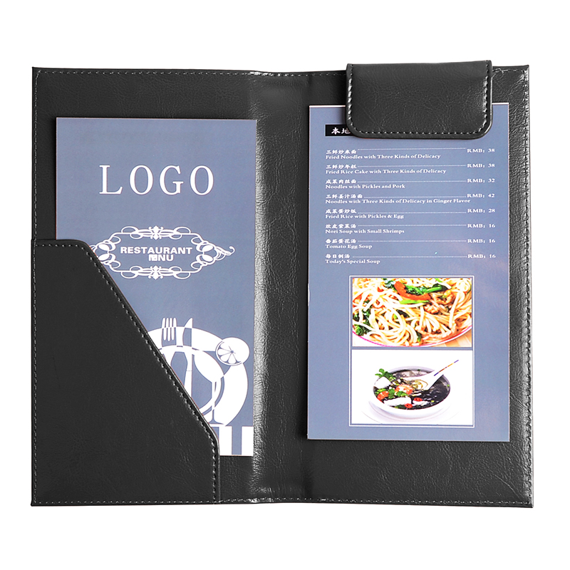 2017 new style pu leather restaurant bill holder check card holder