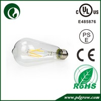 360 Degree led lamp bulb ST64 4W dimmable led filament lamp 12v 110v 230v E27 led lamp