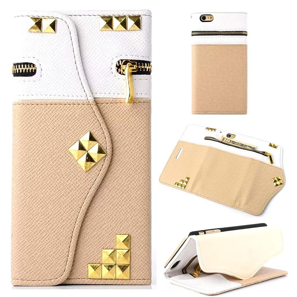 """6S Case,6S Phone Case,iPhone 6S Leather Case,Candywe Fashion Handbag Flip Leather Wallet Card Stand Case Cover For iPhone 6S 4.7"""""""