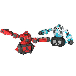 2pc RC rotating fighting battle king robot toy