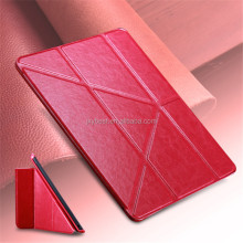 New Arrival Luxury logo customize leather flip stand case for ipad air ipad 5 transformer stand