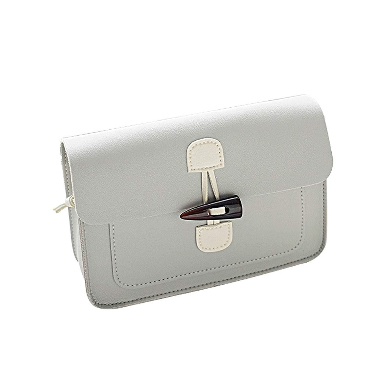 OVERMAL Women Fashion Solid Hasp Cover Crossbody Bag Shoulder Bag Phone Bag Coin Bag