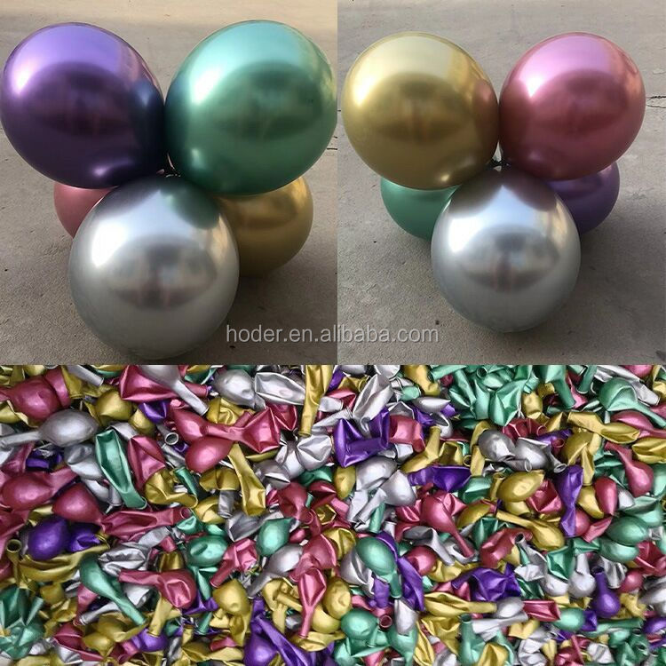 10 Inch Latex Metallic party Balloons chrome Pastel Pearl Color round ballon Chrome gold metallic Ballons For Party Decorations