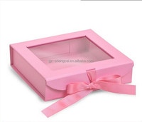 Delicate Paper Wedding Favour Cake Packing Boxes with Window