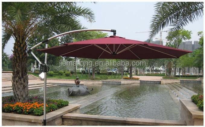 10u0027 Patio Half Umbrella Wall Balcony Sun Shade Garden Outdoor Parasol  Polyester Banana Umbrella Cantilever