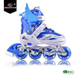Promotion good quality PU wheel inline quad skate boot 2 in 1