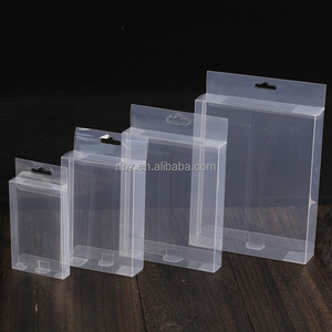 Custom PVC,PET , PP transparent plastic boxes Blister green Box Frosted folding boxes